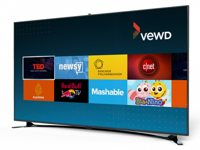 Vewd Atom screenshot in a TV