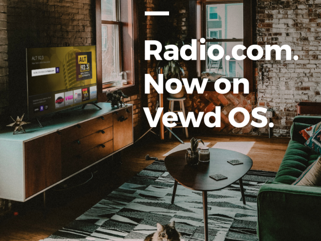 Radio.com is now on Vewd OS