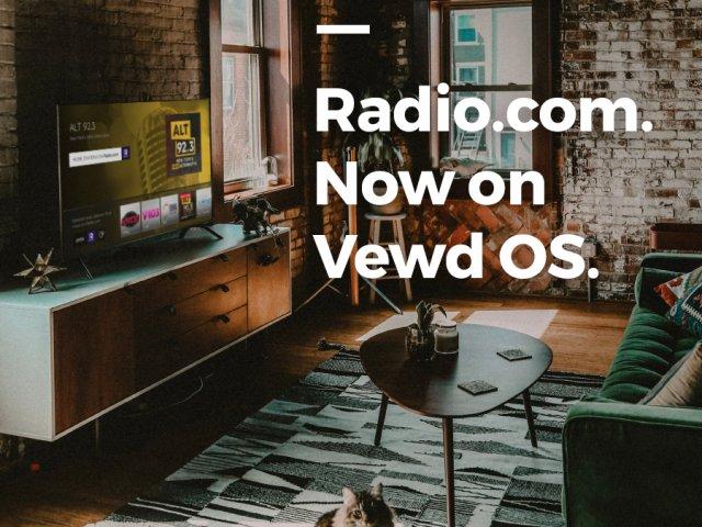 Radio.com is now on Vewd OS