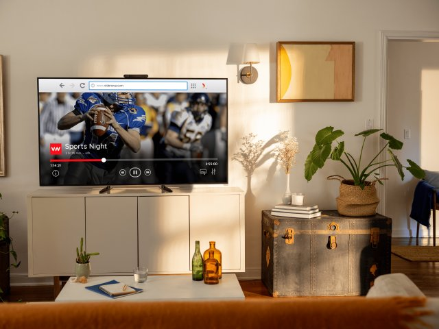 OTT Content in Vewd Browser on Portal TV from Facebook